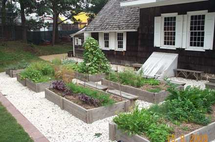 Kitchen garden at the Wyckoff Farmhouse Museum.