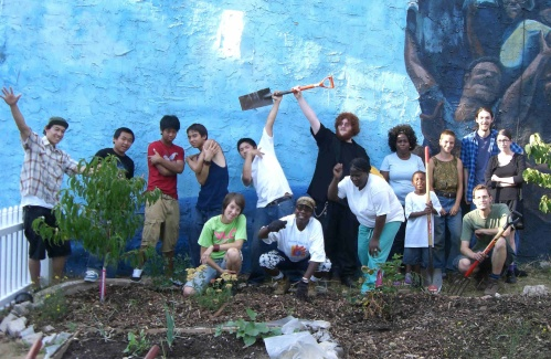 A Philadelphia Orchard Project planting.