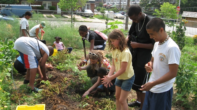 City youth participate at Mill Creek Farm in West Philly.